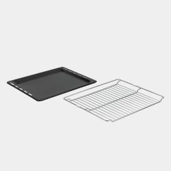 Accessorio in dotazione: 2 griglie metalliche e 2 placche da forno